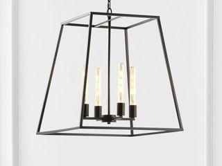 Hutson 4 light Iron Modern Angled lED Pendant by JONATHAN Y