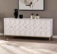 Strick   Bolton Gibbfield Contemporary White Wood Accent Cabinet  Retail 312 99  2 Boxes