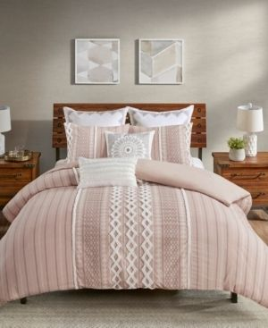 Full Queen Imani Cotton Comforter Set Blush