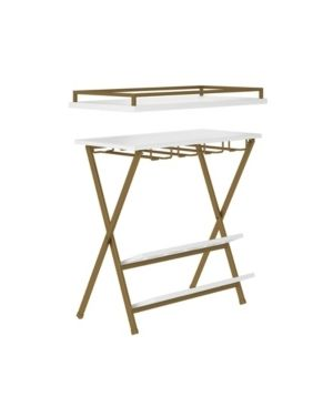 Trevia Folding Wine Rack White   Cosmoliving by Cosmopolitan