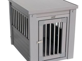 ECOFlEX Dog Crate End Table  Grey  Small  30 l
