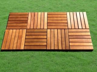 Acacia Hardwood Deck Tiles  Pack of 10