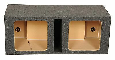 Square Kicker Solobaric Dual 12  Ported l3 l5 l7 Subwoofer Box Speaker Enclosure  Retail  84 99