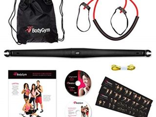 BodyGym All in 1 Home Gym Full Body Exercise Resistance Bar Kit w 2 Workout DVDs  Retail  60 99