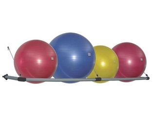 Power Systems Wall Mounted Stability Ball Storage Rack for Gym or Home  Fits 4   Retail  83 99