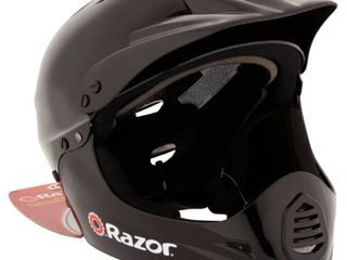 Razor Full Face Multi Sport Youth Helmet  Glossy Black  Retail  40 61