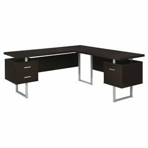 Monarch Specialties left or Right Facing Modern Office Computer Desk  Cappuccino  Retail  881 90