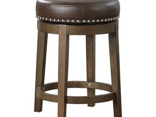 lexicon Whitby 25 Inch Counter Height Round Swivel Seat Stool  Brown  Retail  269 99