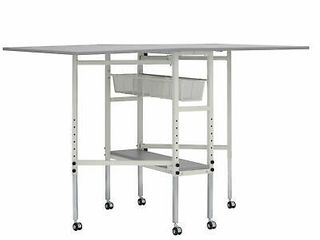 Spree 60  x 36  Adjustable Folding Multipurpose Craft Table with Metal Drawers  Retail  267 99