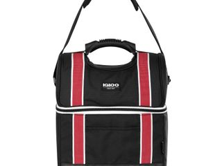 Igloo 22 Can Playmate Gripper large Portable lunchbox Soft Cooler Bag  Black Red  Retail  51 99