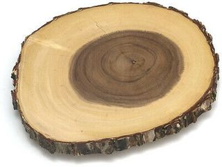 lipper International Handcrafted Acacia Tree Bark Footed Server Platter  Small  Retail  42 99