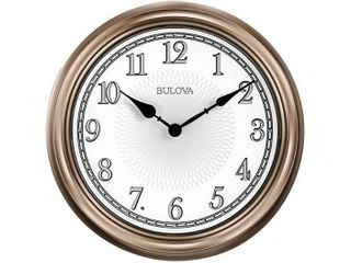 Bulova Clocks C4826 Indoor Outdoor 14 Inch Diameter lighted Dial Time Wall Clock  Retail  93 99