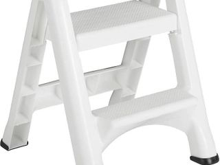 Rubbermaid EZ Two Step Durable Folding Plastic ladder Step Stool  White  Retail  73 99   READ
