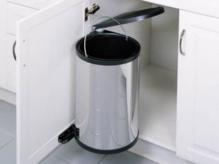 Rev A Shelf 8 010314 15 15 liter Pivot Out Waste Container  Stainless Steel  Retail  139 50