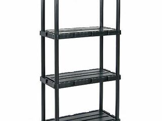 Gracious living Knect A Shelf light Duty Fixed Storage 4 Shelf Shelving Unit  Retail  73 99