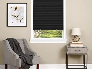 3M Pleated Fabric Shades 48  x 72  Black  4 pck  Retail  49 98