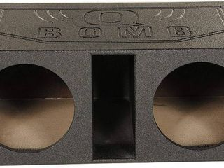 QPower QBOMB12Vl 12  Dual Vented Ported Car Subwoofer Sub Box Enclosure  Retail  339 99