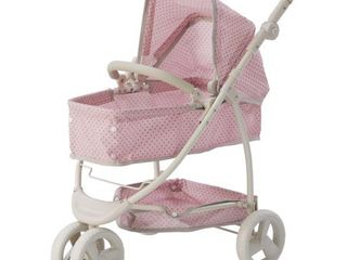 Olivia s little World   Polka Dots Princess 2 in 1 Baby Doll Stroller  Pink Gray  Retails 59 99