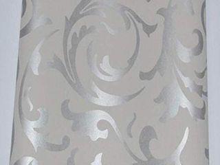 3D Wallpaper European and American Non Woven Pattern Wallpaper Home Decoration Wallpaper  SIlVER  Retails 89 46