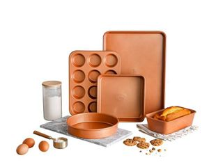 Gotham Steel 5 Piece Copper Bakeware Set with Nonstick Ti Cerama Coating  As Seen on TV RETAIl PRICE 59 99