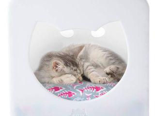 Kitty Kasas Cat Bedroom   White