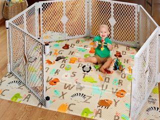 Toddleroo by North States Superyard Folding ABC Play Mat  71  x 71