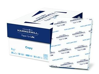 Hammermill Paper  Copy Paper  20lb  8 5 x 11  letter  92 Bright  4 000 Sheets   8 Ream Case  113640c  Made In The USA RETAIl PRICE 80