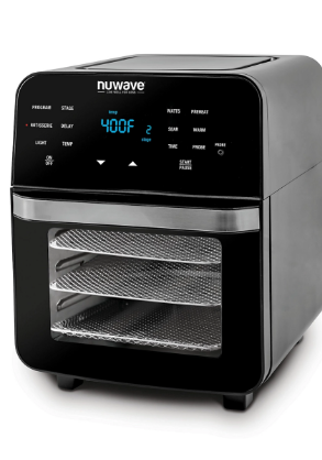 NuWave Brio 14 qt  Digital Air Fryer Oven with Temperature Probe As Seen on TV RETAIl PRICE 135  USED