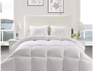 Utopia Bedding Down Alternative Comforter  King  White    All Season Comforter   Plush Siliconized Fiberfill Duvet Insert   Box Stitched USED