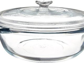 Anchor Hocking 2 Quart Oven Basics Casserole with Glass Cover  Set of 3 Missing One RETAIl PRICE 34   Missing 1