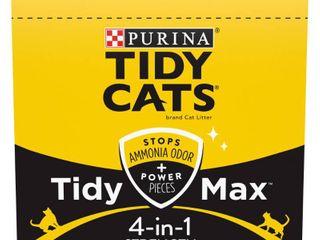 Purina Tidy Cats Clumping Cat litter  Tidy Max 4 in 1 Strength Multi Cat litter   38 lb  Box