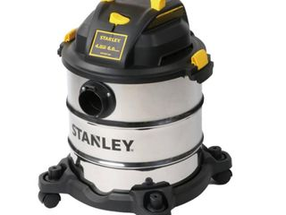Stanley 6 gal  4HP wet dry stainless steel vac  Model Sl18116 ARETAIl PRICE 70 84  Just Vacuum and 2 extension wands