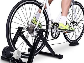 Sportneer Bike Trainer Stand Steel Bicycle Exercise Magnetic Stand with Noise Reduction Wheel for Road Bike  RETAIl PRICE 101 99