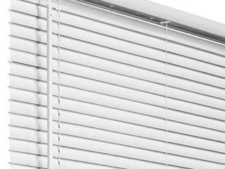 US Window And Floor 2  Faux Wood 33 5  W x 64  H  Inside Mount Cordless Blinds  White  RETAIl PRICE 43