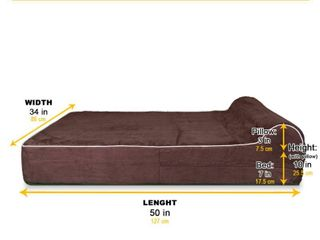 Orthopedic Memory Foam Bed With Pillow Brown   Extra large RETAIl PRICE 109 99