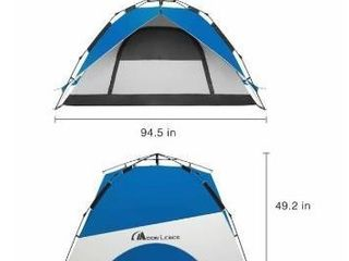 MOON lENCE Pop Up Tent Family Camping Tent 4 Person Tent Portable Instant Tent Automatic Tent Waterproof Windproof for Camping Hiking Mountaineering RETAIl PRICE 143
