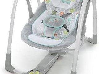 Ingenuity Swing  N Go Portable Baby Swing  Hugs  Hoots  Retails 79 99