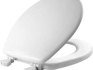 MAYFAIR 844EC 000 Toilet Seat Easily Remove  ROUND  Durable Enameled Wood  White