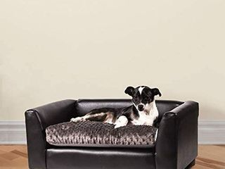 Keet Brand Pet Sofa Bed  Fluffy  Chocolate  Small RETAIl PRICE  61 69