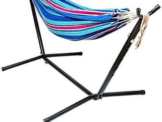 BalanceFrom Double Hammock with Space Saving Steel Stand and Portable Carrying Case  450 Pound Capacity  RETAIl PRICE 54
