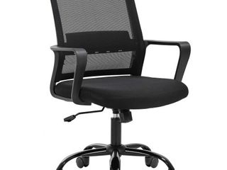 Home Office Chair Ergonomic Desk Chair Swivel Rolling Computer Chair Executive lumbar Support Task Mesh Chair Adjustable Stool for Women Men Black Retail Price  112 99