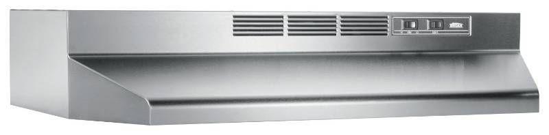 Broan   30  Recirculating Range Hood   Stainless steel
