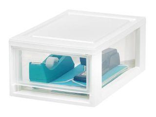 IRIS USA  Small Desktop Stacking Drawer Unit  4 Pack  White Retail Price  24 99