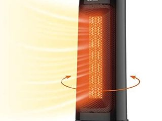 CHlANT Space Heater  1500W Fast Heating PTC Tower Heater  Tip over   Overheat Protection Electric Heater  Oscillating Portable Heater with 2 Heat Settings   Natural Wind for Office  Home  Indoor Use Retails Price  59 99