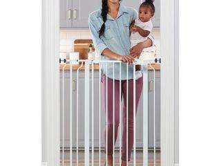 Regalo Extra Tall Easy Step Metal Walk Through Baby Gate   White Retail Price  46 88