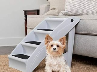 PetSafe CozyUp Folding Pet Steps   Foldable Stairs for Dogs and Cats   Best for Small to large Pets   large  Grey Retails Price  44 90
