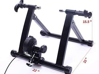 SEE NOTES BalanceFrom Bike Trainer Magnetic Stand Steel Front Wheel Riser Block Retail Price  55 66