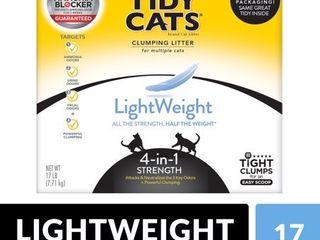Purina Tidy Cats light Weight  low Dust  Clumping Cat litter  lightWeight 4 in 1 Strength Multi Cat litter   17 lb  Box