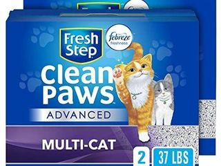 Cleaner Paws Clumping Cat litter Deodorizer For litter Boxes Easy Scoop 2 Pack Retail price  24 99