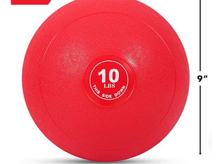 Weighted Slam Ball by Day 1 Fitness a 10 lbs RED   No Bounce Medicine Ball RETAIl price  29 44